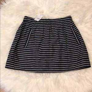 J. Crew 100% Cotton Nautical Skirt w/ pockets